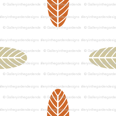 Autumn Palm Leaf in Clay and Tan, Fall Foliage, Modern Leaves