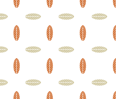 Autumn Palm Leaf in Clay and Tan, Fall Foliage, Modern Leaves fabric by galleryinthegardendesigns on Spoonflower - custom fabric