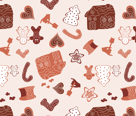 Gingerbread fabric by alicitapatterns on Spoonflower - custom fabric