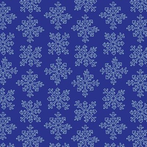 Snowflake Party Stripe in Purple