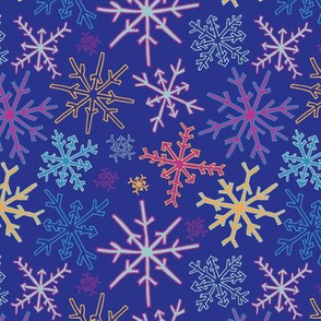 Snowflake Party in Purple