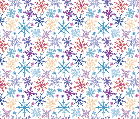 Snowflake Party fabric by twigandweave on Spoonflower - custom fabric