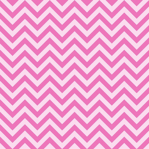 Three Inch Dark Pink and Light Pink Chevron Stripes
