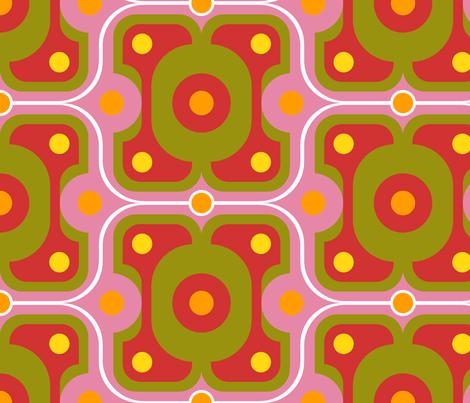 horizontal ogee fabric by hannafate on Spoonflower - custom fabric