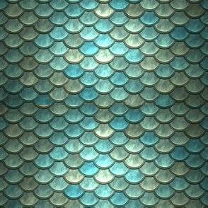BLUE GREEN METALLIC SCALES