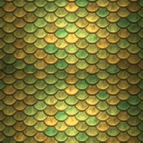 GREEN GOLD METALLIC SCALES