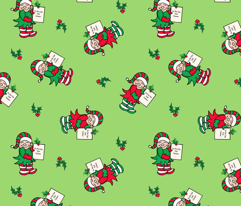 Elfin Magic Green fabric by bags29 on Spoonflower - custom fabric