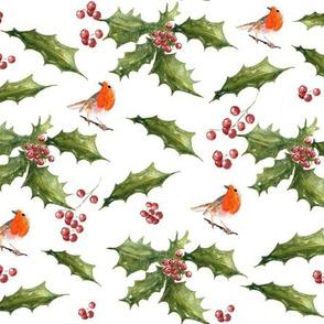 Birds under the mistletoe