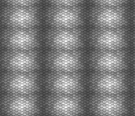 SILVER METALLIC SCALES fabric by rach4291 on Spoonflower - custom fabric