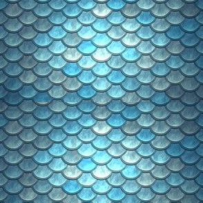 BLUE METALLIC SCALES