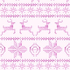 fair isle vintage pink