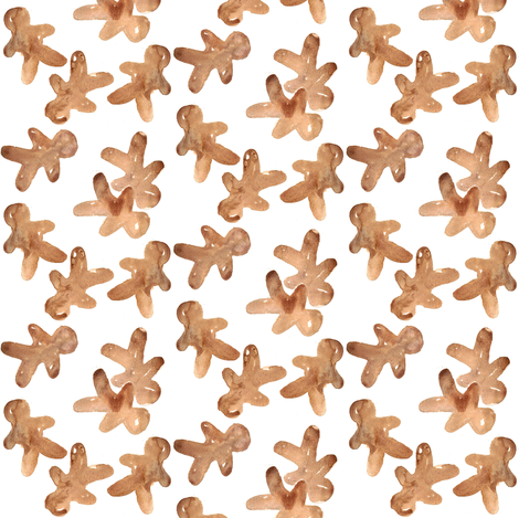 gingerbread cookies mini fabric by erinanne on Spoonflower - custom fabric