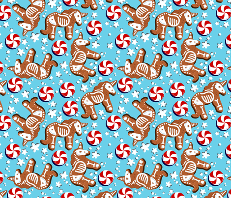 Unicorn Gingerbread  fabric by lalaliz on Spoonflower - custom fabric