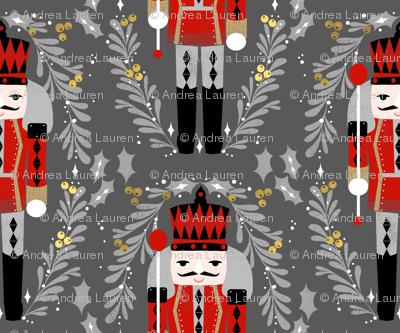 nutcracker christmas (smaller)// charcoal black and red design xmas holiday design