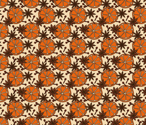 Orange Slices and Spices fabric by northern_whimsy on Spoonflower - custom fabric