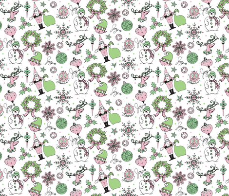 Christmas-half-drop-pattern fabric by julistyle on Spoonflower - custom fabric