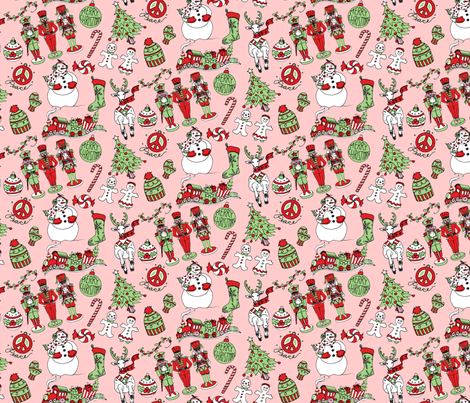 Christmas-pattern-2 fabric by julistyle on Spoonflower - custom fabric