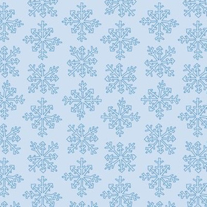 Snowflake Party Stripe in Light Blue