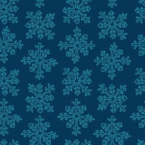 Snowflake Party Stripe in Dark Blue