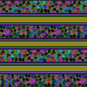Pansy Pattern w Stripes