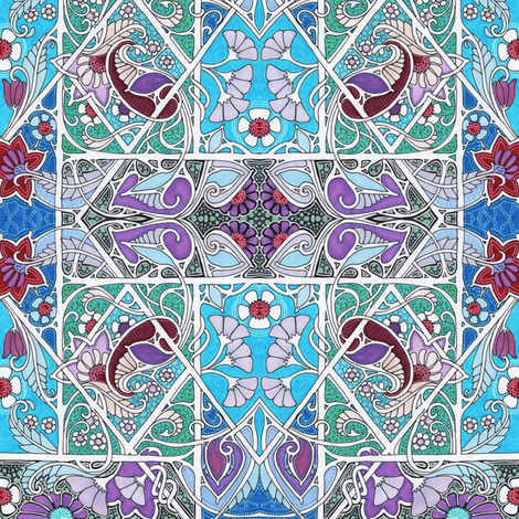 Nouveau Tangled Garden fabric by edsel2084 on Spoonflower - custom fabric