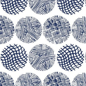 Navy Abstract Circle Blockprint