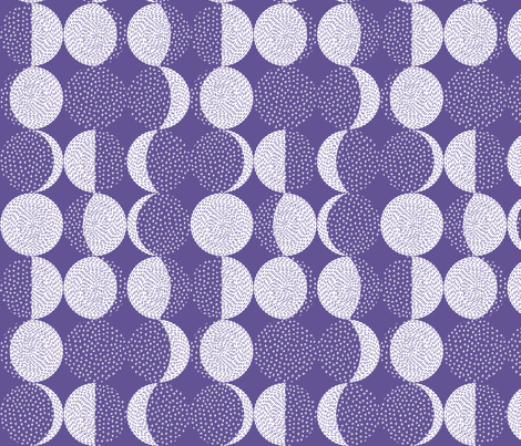 Moon Phases Ultra Violet fabric by marketa_stengl on Spoonflower - custom fabric