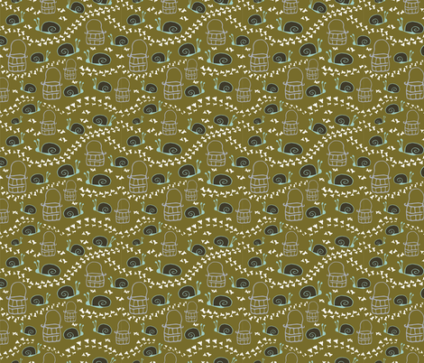 Snail Lace fabric by pagetfink on Spoonflower - custom fabric