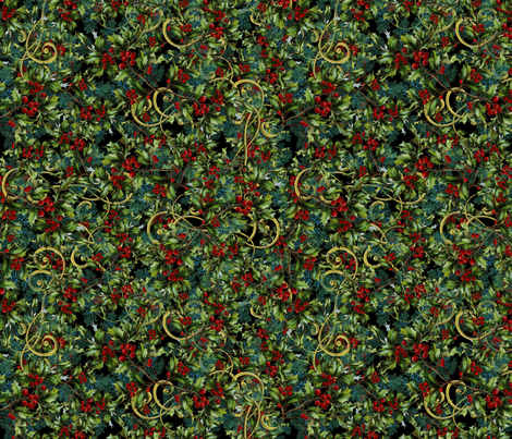 Jolly Holly Berries fabric by bags29 on Spoonflower - custom fabric