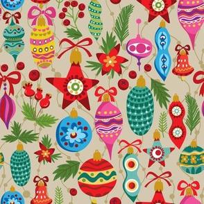 Festive Ornaments - Tan