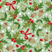 Festive Holly - Green A
