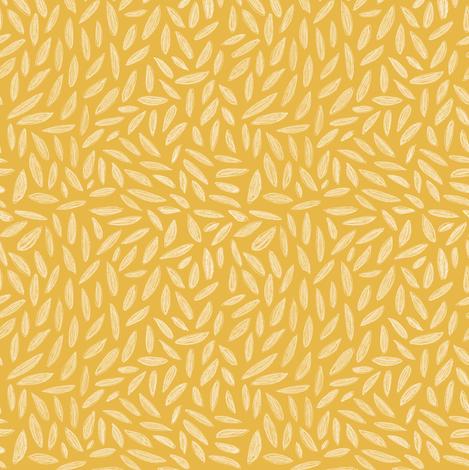 Sleeping Beauty leaves mustard fabric by katherine_quinn on Spoonflower - custom fabric