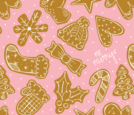 Gingerbread Cut-out Cookies fabric by allymadisondesigns on Spoonflower - custom fabric