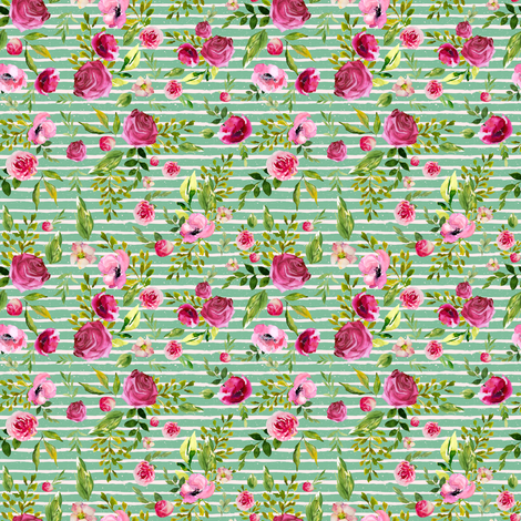 """4"""" Bohemian Spirit - Green and Pink Stripes fabric by shopcabin on Spoonflower - custom fabric"""