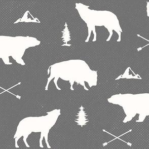 Woodland Animals - Bears Wolves Buffalo