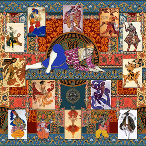Ballets Russes Bakst Tapestry