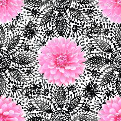 Rustic_pink_Dahlia_black_lace_white