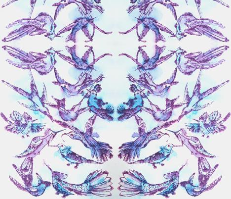 Hummingbirds fabric by messmaker on Spoonflower - custom fabric