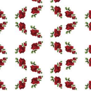 pixel roses - large