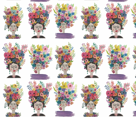 Frida Frenzy fabric by alchemyhome on Spoonflower - custom fabric