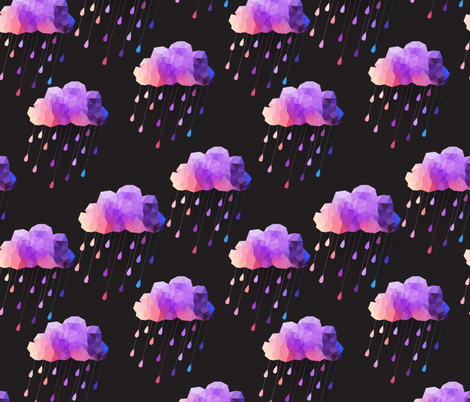 Black and Purple Acid clouds fabric by littlefancypants on Spoonflower - custom fabric