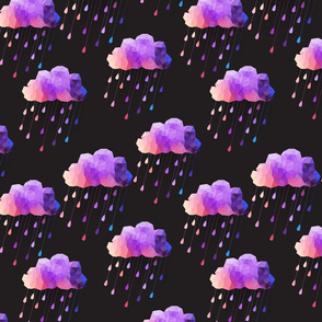 Black and Purple Acid clouds