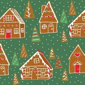 gingerbread houses green