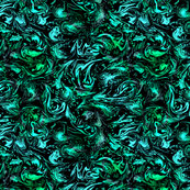 Abstract Marbled Swirls in Greens