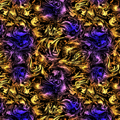 Abstract Marbled Swirls in Purple and Yellow