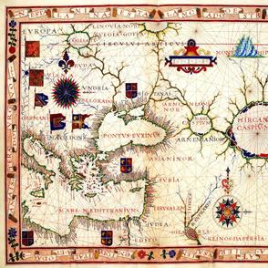 "1570 Map of Armenia (42""W)"