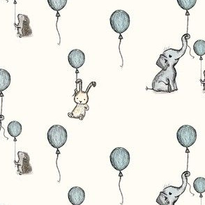 little animals with ballons