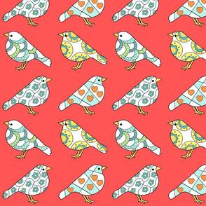 Little Birds in Bright Pink