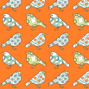 Little Birds in Orange