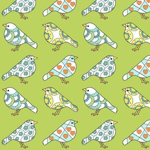 Little Birds in Green